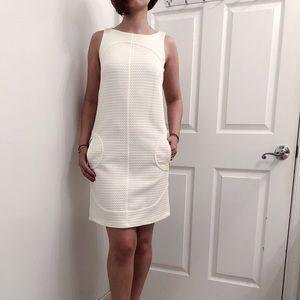 Sharagano brand new white midi dress